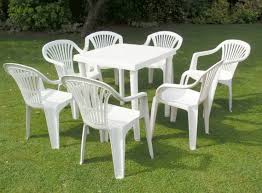 Pvc Patio Table White Plastic Patio Furniture Set Furniture