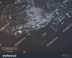 Map Of Toronto Map Toronto Satellite View City Ontario Stock Illustration