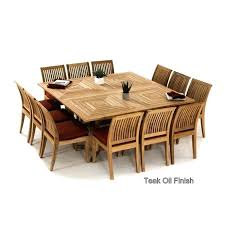 square table for 12 square dining room table for 12 people large teak dining set for