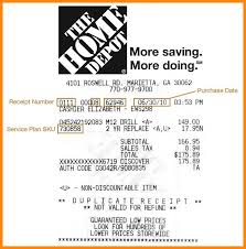 Home Depot Resume Sample by Home Depot Receipt Template Homedepot Original Best Template