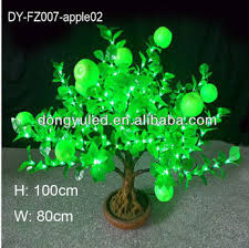 malta simulation artificial led bonsai apple fruit lighted trees