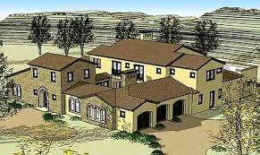 plan w16377md tuscan home with two courtyards e architectural
