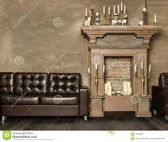 Decorative Fireplace Decorative Fireplace With Candles Stock Photo Image 42785036