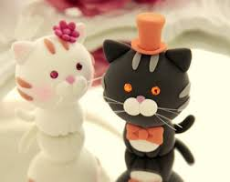 cat and dog wedding cake topperk843
