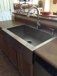 Single Bowl Kitchen Sink Top Mount Kohler Vault Farmhouse Apron Front Stainless Steel 36 In 4