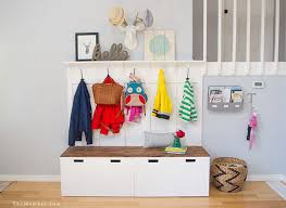 ikea bench with storage diy mudroom using ikea stuva benches ikea hackers