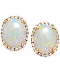 opal stud earrings opal earrings shop opal earrings macy s