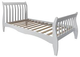 White Wood Single Bed Frame White Single Sleigh Bed Bonners Furniture