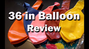 big plastic balloons 36 inch balloons review