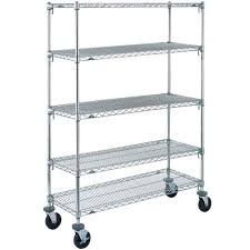 5 Tier Wire Shelving by Metro 5a366bc Super Adjustable Chrome 5 Tier Mobile Shelving Unit