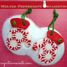 sugartown melted peppermint ornaments mittens