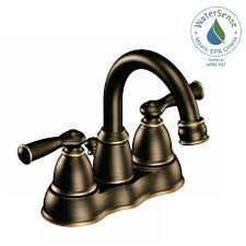 Cheap Bronze Bathroom Faucets by Moen Banbury 4 In Centerset 2 Handle High Arc Bathroom Faucet In