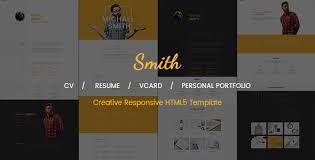 smith cv resume vcard personal portfolio html5 template by