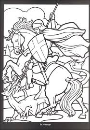 free printable coloring crusade knight stained glass