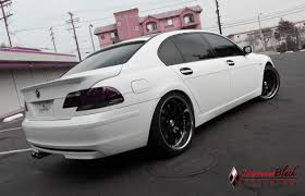 lexus matte white 2006 bmw 750li wrapped in satin matte white by dbx diamond black