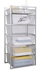 mesh drawer baskets platinum 6 tier from storage box