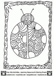 free art coloring pages beautiful ladybug doodle art coloring page for adults abstract