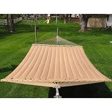 grand super 2 person brown quilted hammock free shipping today