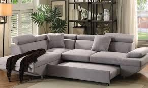 Ebay Sectional Sofa Acme 52990 Jemima Gray Fabric Sectional Sofa W Sleeper