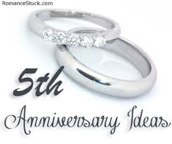 fifth anniversary gift ideas for him 2nd anniversary ideas romancefromtheheart