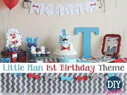 Lil Man Baby Shower Theme Little Man First Birthday Party Diy Swank