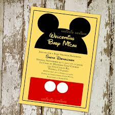 mickey mouse baby shower invitations mickey mouse baby shower invitations template best template