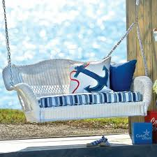 wicker swing chair with stand and pillow u2014 jbeedesigns outdoor