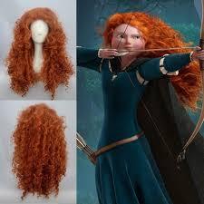 sell disney pixar animated movie brave merida cosplay wig