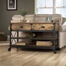 industrial console table with drawers exquisite then industrial sofa table with wheels rustic console 2