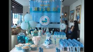 outdoor birthday party venue decor customized to baby shower theme