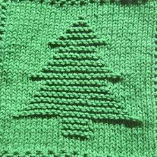 tree knit dishcloth pattern knitting