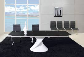 Black Glass Extending Dining Table Black Glass Dining Table Functions Articleink