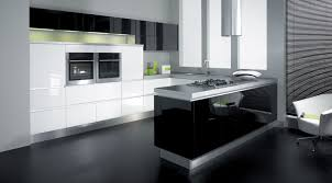 Microwave In Island In Kitchen Black Island Cabinetry Grey Granite Countertop Panel Appliances