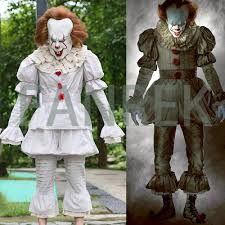 2017 stephen king u0027s it pennywise full suit cosplay halloween costume