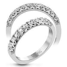 womens wedding bands simon g diamond prong set 18k white gold womens wedding bands