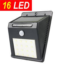 Motion Activated Outdoor Light Promotion16 Led Super Bright Solar Sensor Outdoor Wall Light