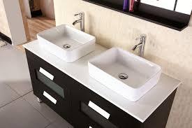 58 Double Sink Vanity Francesca 55 U2033 Double Sink Vanity Set In Espresso Design Element