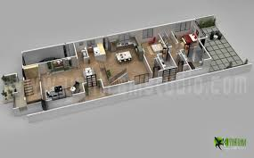 3d Office Floor Plan Modern 3d Home Floor Plan Concepts Yantram Architectural Design