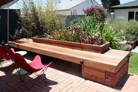 creative idea backyard design with l shaped grey pallet wood