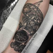 nautical theme s sleeve design with compass and sun