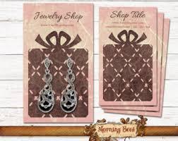 custom earring cards template art deco business card template