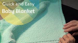 free knitting pattern quick baby blanket quick and easy baby blanket youtube