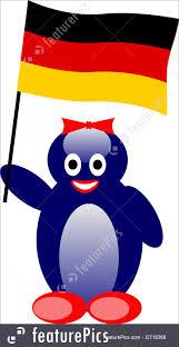 illustration of german penguin