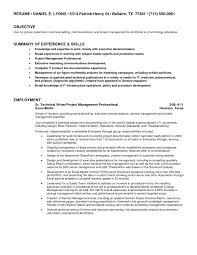 Technical Writing Resume Examples by Technical Writers Resume Examples