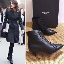 s boots 50 yves laurent kitten heel ankle boots for ebay