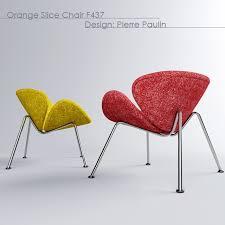 orange slice chair 3d model design ideas