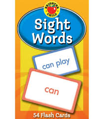 words cards sight words flash cards grade pk 2 carson dellosa publishing