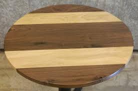 Black Walnut Table Top by Spalted Maple U0026 Black Walnut Round Cut Glue Up Coffee Pub Table