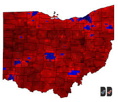 2016 Presidential Map This Updated Ohio Presidential Map Is Staggering