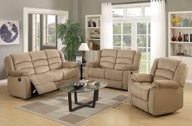 Reclining Living Room Set Beige Recliner Living Room